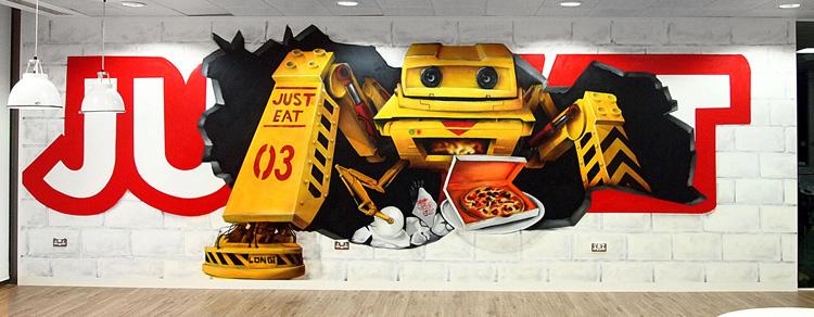 just-eat-graffiti-art-robot-mural-offices-london-1