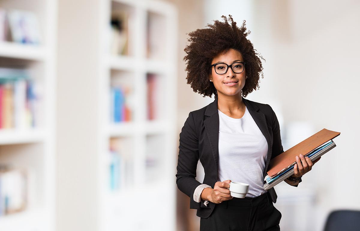 A millennial businesswoman
